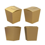 Golden taper square butterfly buckle biscuit box with clipping p Stock Photos