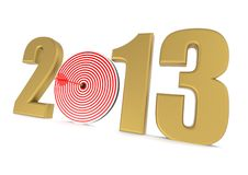 Golden target of 2013 Stock Image