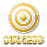 Golden target with success word Stock Images