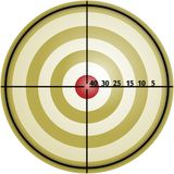 Golden target. A target to shoot on Royalty Free Stock Image