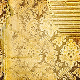 Golden tattered background Stock Image