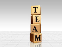 Golden team with reflection Royalty Free Stock Photography