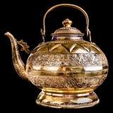 Golden teapot Royalty Free Stock Photos