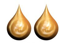 Golden tears. In 3D similar to church domes Royalty Free Stock Image