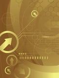 Golden technology 1/2 royalty free illustration