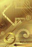 Golden technology 2/2. Illustration of technology design concept Stock Image