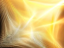 Golden technology background Stock Images