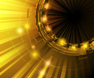 Golden technology background. Clip-art