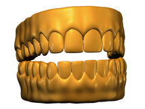 Golden teeth Royalty Free Stock Image