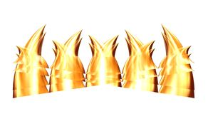 Golden teeth 9 Stock Photos