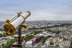 Golden telescope Royalty Free Stock Photography