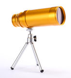 Golden telescope Stock Photography