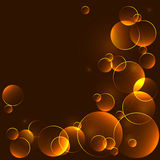 Golden template with bokeh circles Stock Image