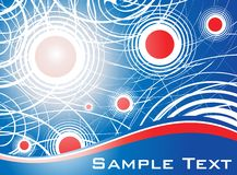 Golden template.cdr. Abstract red & blue template vector illustration royalty free illustration