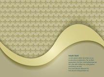 Golden template fleur-de-lis Royalty Free Stock Image