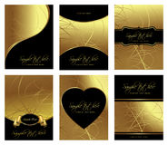 Golden templates Stock Image