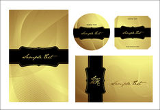 Golden templates collection Stock Images