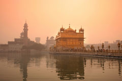 Golden Temple. Faithful people entering the Golden Temple in festivity day- Amritsar, Punjab, India Royalty Free Stock Images