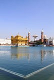 Golden temple. Situated in amritsar, punjab, India is a sacred place for sikh devotees. Its main temple is covered with real gold, that is why it is named '' Stock Photos