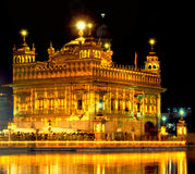 Golden Temple. The Golden Temple, Hari Mandir Sahib, in Amritsar, India is the most sacred place of the Sikh religion and where Guru Nanak lived and meditated Stock Image
