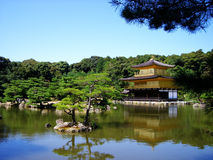 Golden Temple. The Golden Temple in Kyoto, shot during a holiday Stock Photography