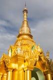 Golden Temple. Part of the golden Shwedagon Pagoda, Yangon, Burma, Southeast Asia Stock Image