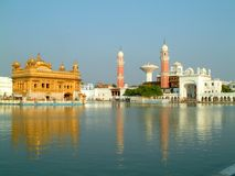 Golden temple. View of the golden temple, amritsar, india Royalty Free Stock Image