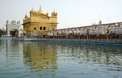 Golden temple. Is culturally the most significant shrine of Sikhism Royalty Free Stock Photography