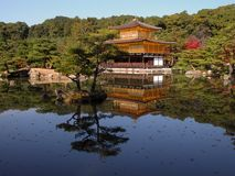 Golden temple. One of the most famous Japanese landmark-Golden Temple from Kyoto Royalty Free Stock Images