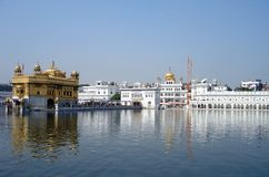 Golden Temple Amritsar. Holy worship place for Sikh religion in Amritsar Royalty Free Stock Images
