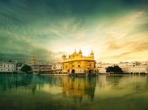 Golden temple amritsar,Harmandir Sahib. The Golden Temple, also known as Darbar Sahib, is a Gurdwara located in the city of Amritsar, Punjab, India. It is the royalty free stock photos