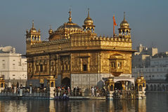 Golden Temple; Amritsar. Golden Temple is the holiest Sikh gurdwara located in the city of Amritsar, Punjab, India Stock Images