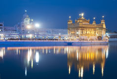 Golden Temple of Amritsar, India. Night view Stock Photos