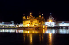 Golden Temple Amritsar, India at night Royalty Free Stock Image