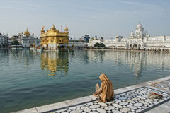 Golden temple at amritsar Royalty Free Stock Photo