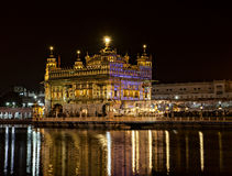 Golden temple of Amritsar at night Royalty Free Stock Photo