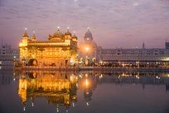 Golden Temple in Amritsar, Punjab, India. Golden Temple at twilight, Amritsar, Punjab, India Stock Photos