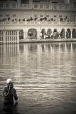 The Golden Temple of Amritsar, Punjab, India. Devotee of the Golden Temple of Amritsar, Punjab, India Stock Photography