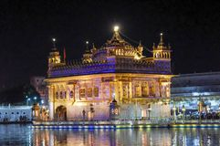 Golden Temple in Amritsar Punjab India. Very much one of the main tourist attractions and points of interest in the area Stock Image