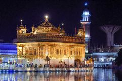 Golden Temple in Amritsar Punjab India. Very much one of the main tourist attractions and points of interest in the area Royalty Free Stock Images