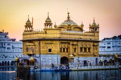 Golden Temple in Amritsar Punjab India. Very much one of the main tourist attractions and points of interest in the area Royalty Free Stock Image