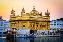 Golden Temple in Amritsar Punjab India. Very much one of the main tourist attractions and points of interest in the area Stock Photography