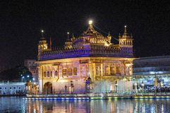 Golden Temple in Amritsar Punjab India. Very much one of the main tourist attractions and points of interest in the area Stock Images