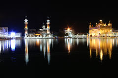 The Golden Temple, Amritsar, Punjab, India. Sikh golden temple at night Stock Images