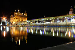 The Golden Temple, Amritsar, Punjab, India. Sikh golden temple at night Royalty Free Stock Photo