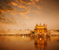 Golden Temple in Amritsar. Sunrise at Golden Temple in Amritsar, Punjab, India Stock Image