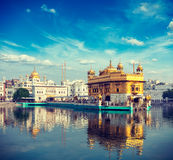 Golden Temple, Amritsar. Vintage retro effect filtered hipster style travel image of Sikh gurdwara Golden Temple (Harmandir Sahib). Amritsar, Punjab, India Stock Images