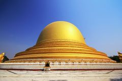 The golden temple arch in Myanmar stock photo