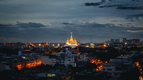 Golden temple on center. The beautiful temple are center and surrounded by villages Royalty Free Stock Photos