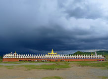 Golden temple with cloudy. In Tagong grassland, Kangding,Sichuan,China Stock Image